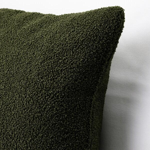 KRYDDBUSKE Kuddfodral, mörkgrön, 50x50 cm