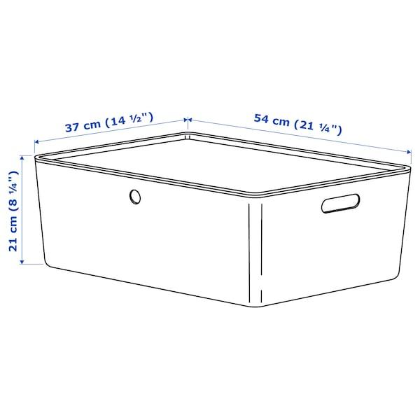 KUGGIS Låda med lock, vit, 37x54x21 cm