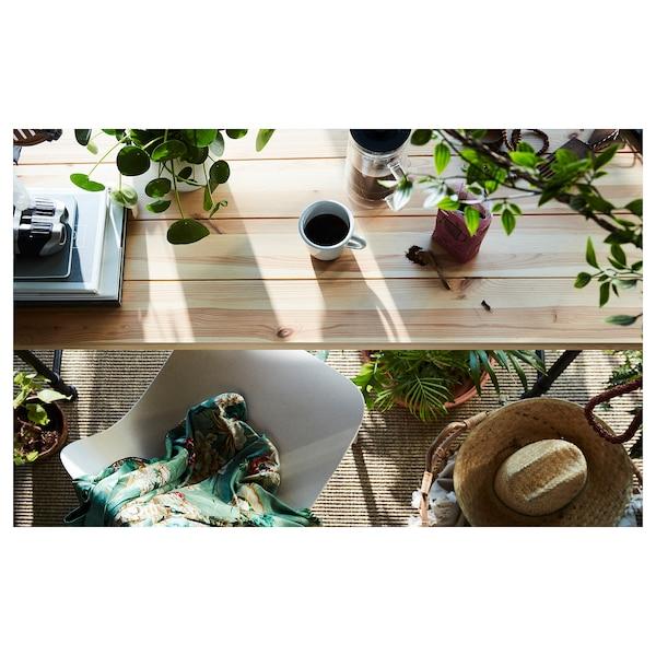 KULLABERG Skrivbord, furu/svart, 110x70 cm