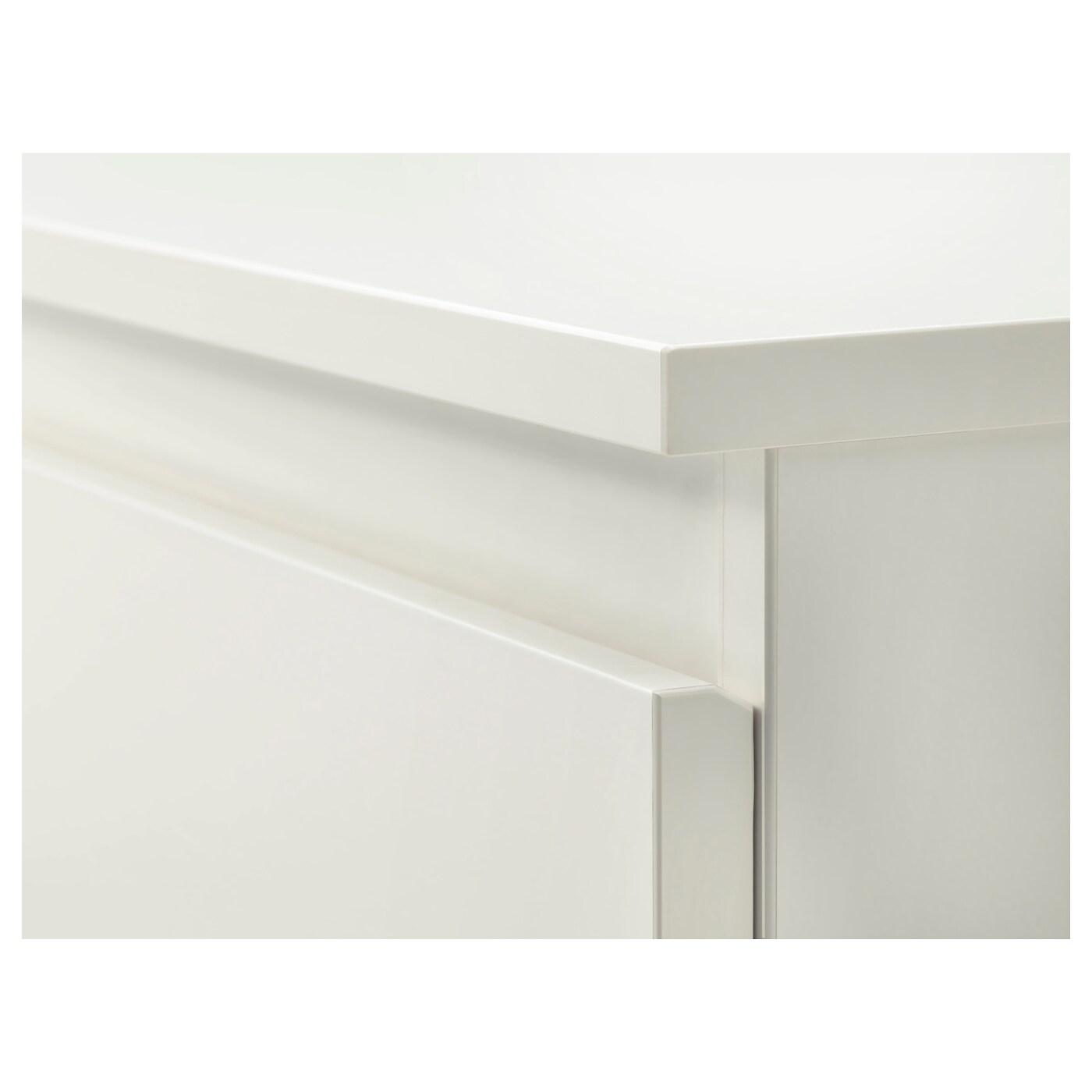 KULLEN Byrå med 6 lådor vit 140x72 cm