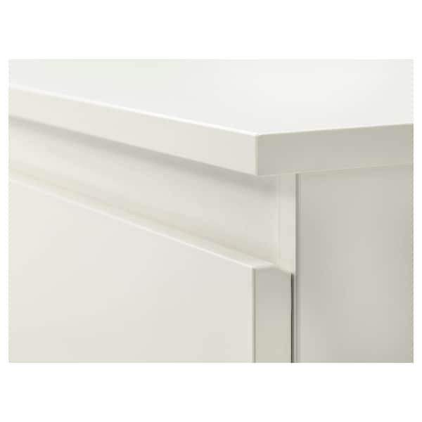 KULLEN Byrå med 6 lådor, vit, 140x72 cm