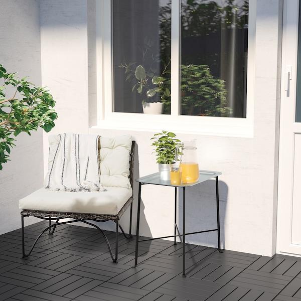 KUNGSHATT Brickbord, inom-/utomhus, mörkgrå/grå, 56x36 cm