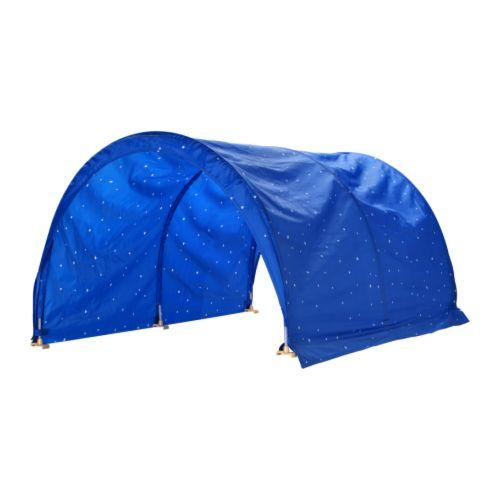 KURA Sängtält, blå, vit Längd: 150 cm Bredd: 100 cm Höjd: 100 cm