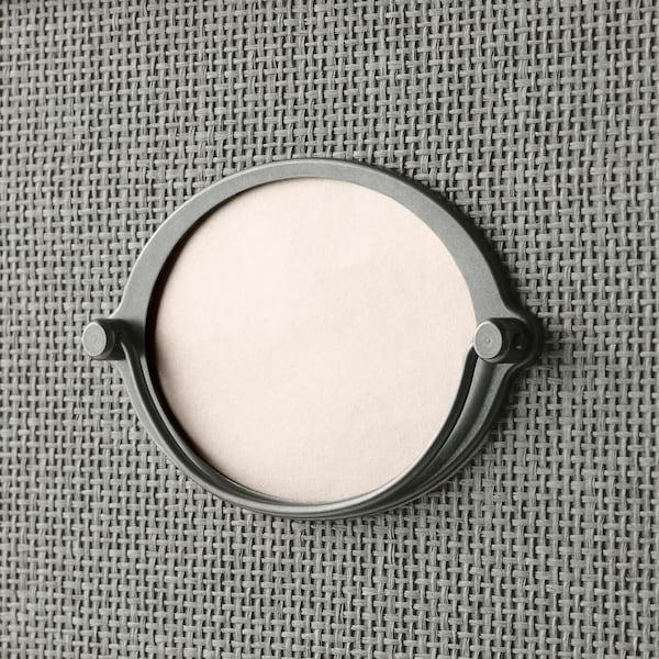 KVARNVIK Förvaringslåda med lock, grå, 25x35x20 cm