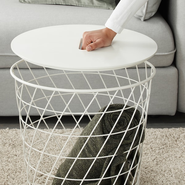 KVISTBRO Förvaringsbord, vit, 44 cm