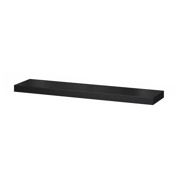 LACK Vägghylla, svartbrun, 110x26 cm
