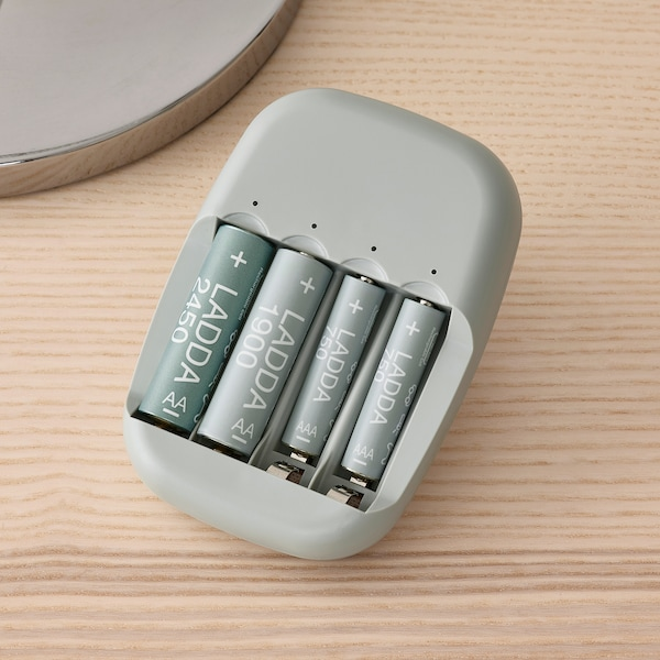 LADDA Laddningsbart batteri, HR06 AA 1.2V, 2450mAh