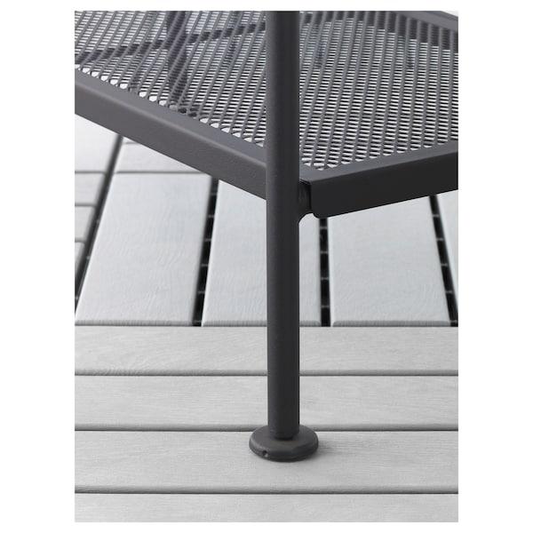 LÄCKÖ Hylla, utomhus, grå, 61x160 cm