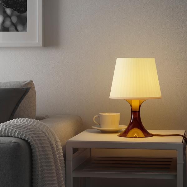 LAMPAN Bordslampa, brun, 29 cm IKEA