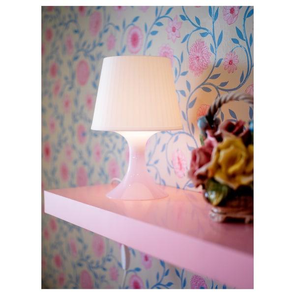LAMPAN Bordslampa, vit, 29 cm