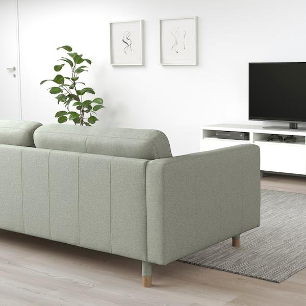 LANDSKRONA 2-sitssoffa, Gunnared ljusgrön/trä