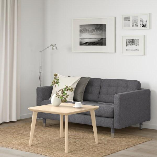 LANDSKRONA 2-sitssoffa, Gunnared mörkgrå/metall