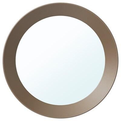 LANGESUND Spegel, beige, 25 cm