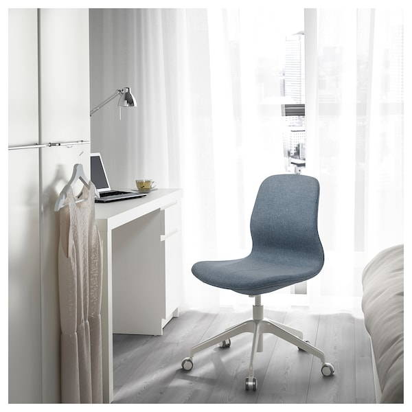 LÅNGFJÄLL Kontorsstol, Gunnared blå/vit