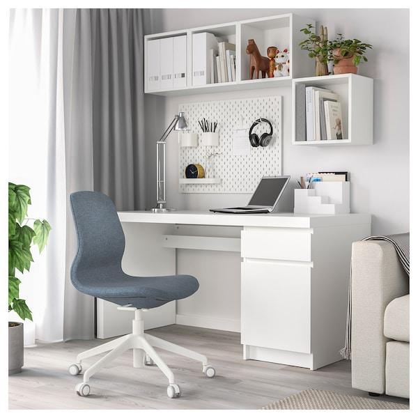 LÅNGFJÄLL kontorsstol Gunnared blå/vit 110 kg 68 cm 68 cm 92 cm 53 cm 41 cm 43 cm 53 cm