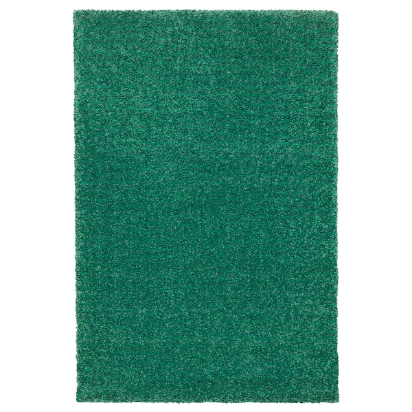LANGSTED Matta, kort lugg, grön, 60x90 cm