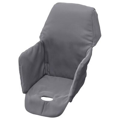 LANGUR vadderad sitsklädsel för barnstol grå 22 cm 21 cm 40 cm