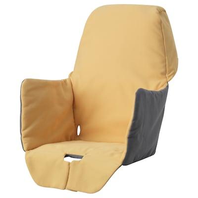 LANGUR vadderad sitsklädsel för barnstol gul 22 cm 21 cm 40 cm