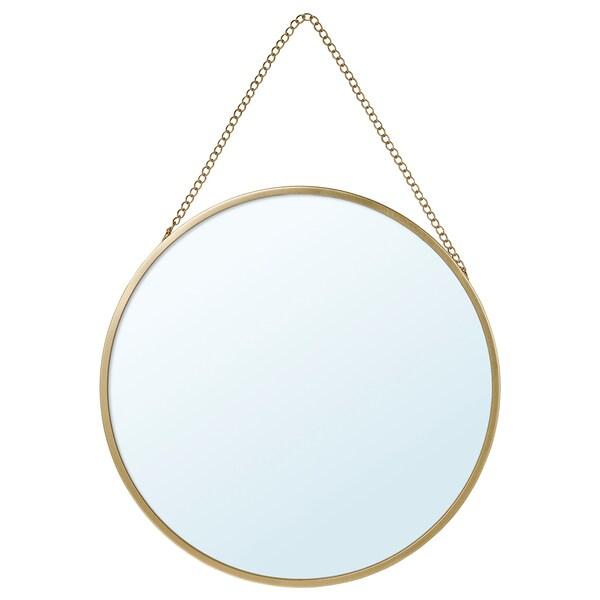 LASSBYN Spegel, guldfärgad, 25 cm