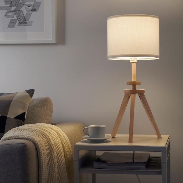 LAUTERS Bordslampa, ask, vit IKEA
