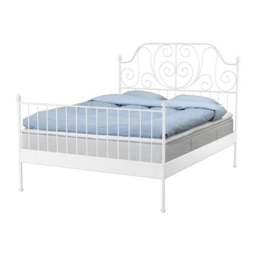 LEIRVIK Sängstomme, vit Längd: 209 cm Bredd: 168 cm Höjd fotgavel: 98 cm Höjd huvudgavel: 146 cm Madrasslängd: 200 cm Madrassbredd: 160 cm