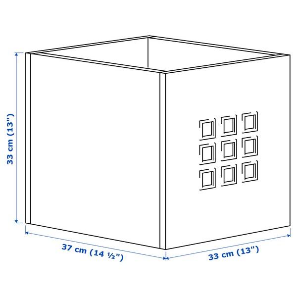 LEKMAN Låda, vit, 33x37x33 cm