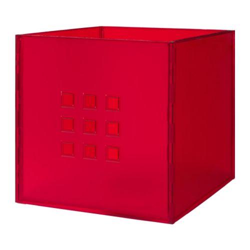LEKMAN Låda IKEA Perfekt för allt från tidningar till kläder. Filttassarna på undersidan skyddar underlaget mot repor.