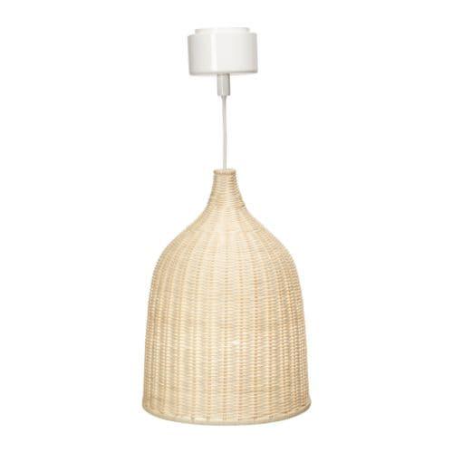 LERAN Taklampa IKEA Handgjord skärm; varje skärm är unik. Ger både riktat och spritt ljus, bra för att lysa upp ett matbord.