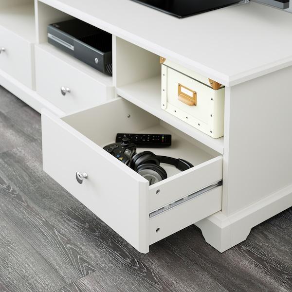LIATORP tv-bänk vit 145 cm 49 cm 45 cm 100 kg