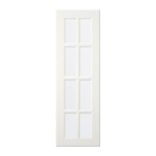 LIDINGÖ Vitrindörr, off-white Bredd: 39.6 cm Höjd: 91.8 cm Tjocklek: 1.9 cm