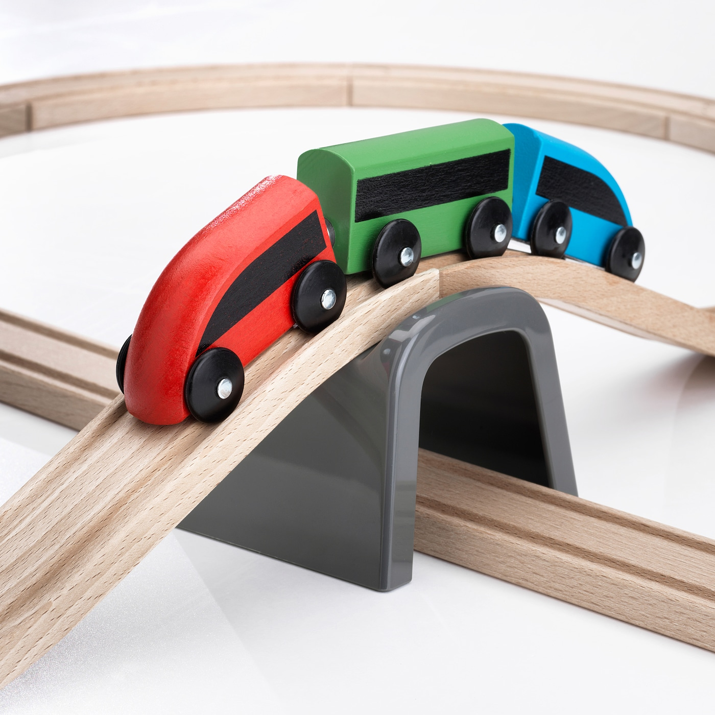 LILLABO grundsats tåg 20 delar flerfärgad
