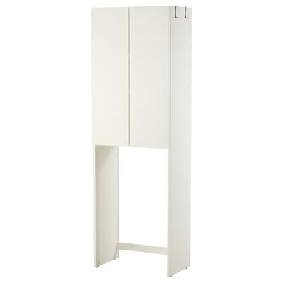 LILLÅNGEN Skåp för tvättmaskin, vit, 64x38x195 cm