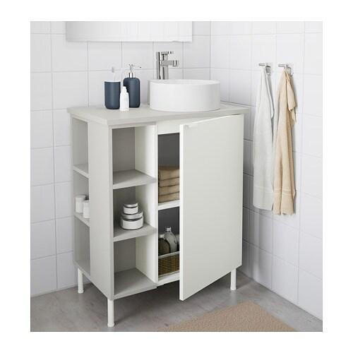 LILLÅNGEN/VISKAN / GUTVIKEN Tvättstskåp 1 dörr/2 avslutnhyllor IKEA