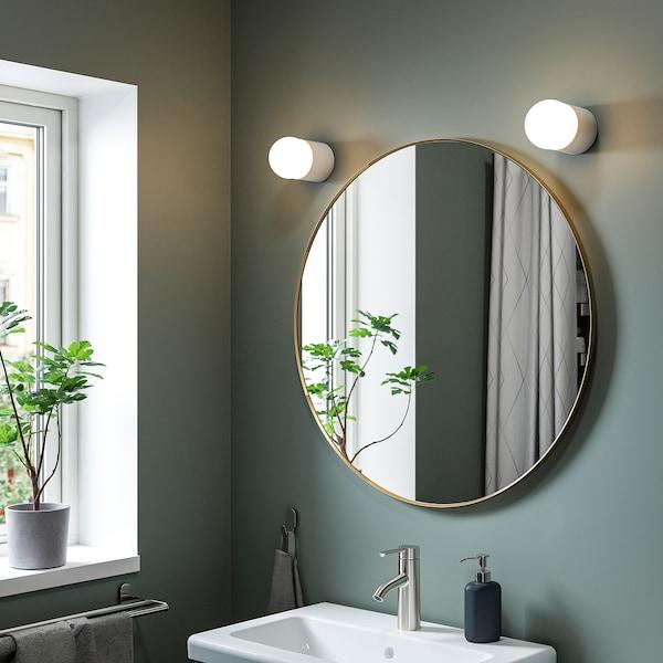 LINDBYN Spegel, guldfärgad, 80 cm