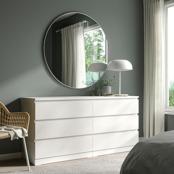 LINDBYN Spegel, vit, 110 cm
