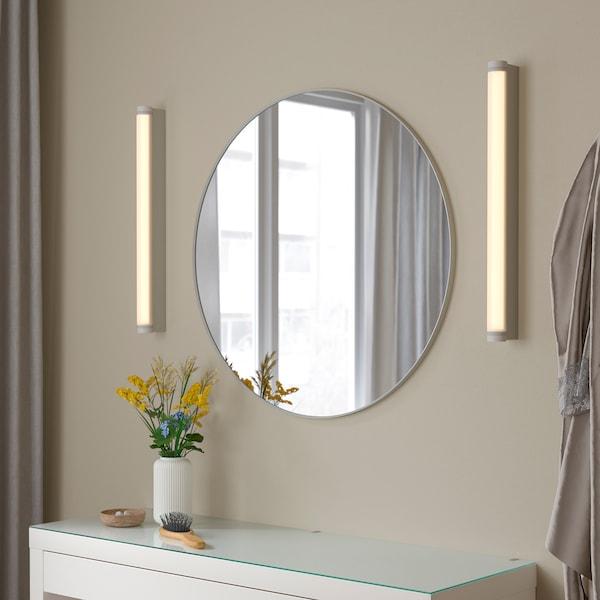 LINDBYN Spegel, vit, 80 cm