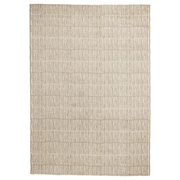 LINDELSE Matta, lång lugg, naturfärgad/beige, 170x240 cm