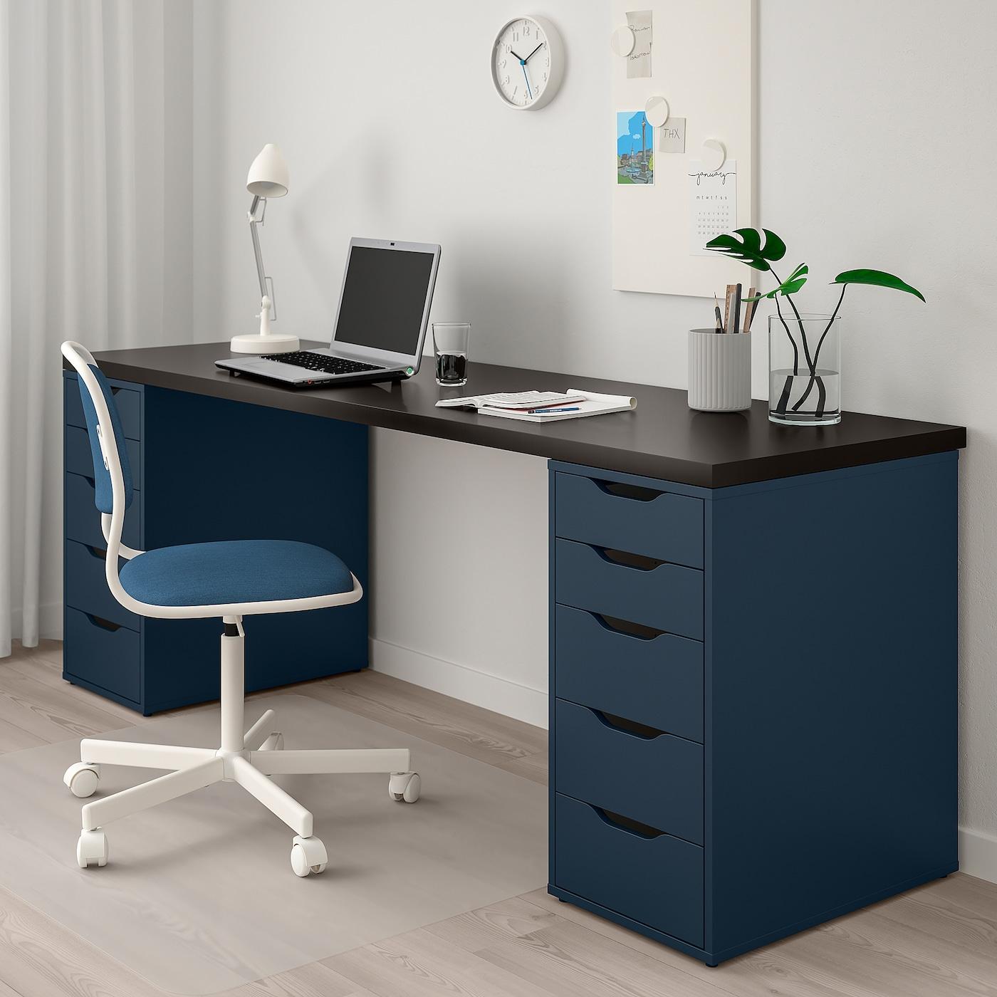LINNMON Bordsskiva, svartbrun, 200x60 cm IKEA