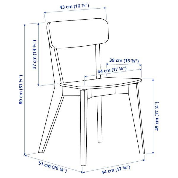 LISABO / LISABO Bord och 4 stolar, askfaner/ask, 140x78 cm