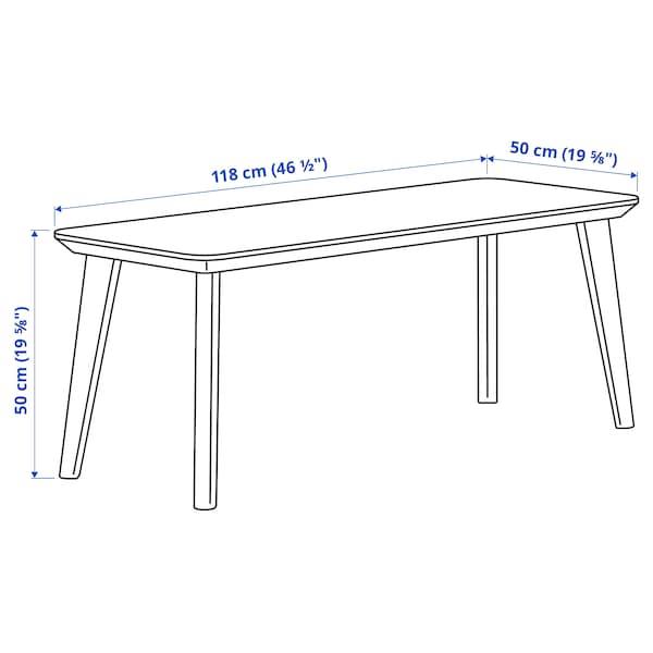 LISABO Soffbord, askfaner, 118x50 cm