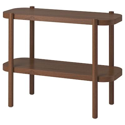 LISTERBY Avlastningsbord, brun, 92x38x71 cm