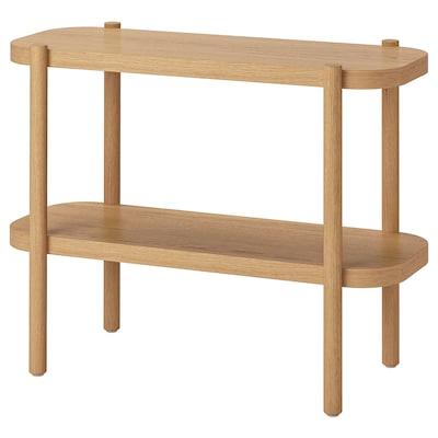LISTERBY Avlastningsbord, vitlaserad ek, 92x38x71 cm
