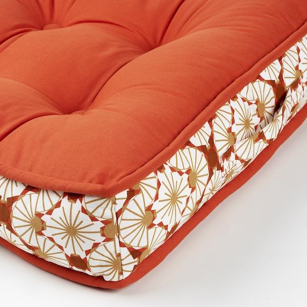 LJUVARE Golvkudde, orange, 48x48 cm