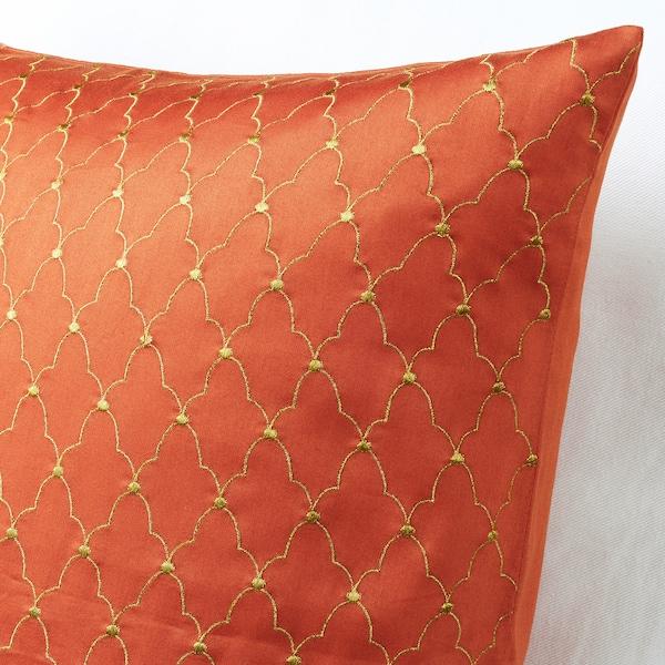 LJUVARE Kuddfodral, broderi orange, 50x50 cm