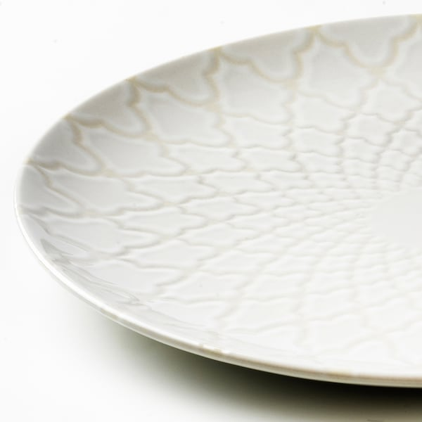 LJUVARE Tallrik, off-white, 27 cm