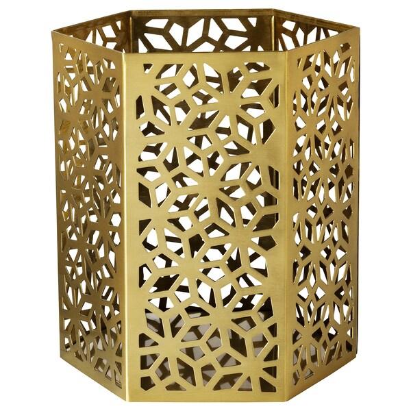 LJUVARE Värmeljushållare, guldfärgad, 15 cm