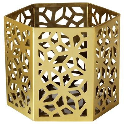 LJUVARE Värmeljushållare, guldfärgad, 8 cm