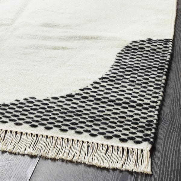 LOKALT Matta, natur svart/handgjord, 80x150 cm