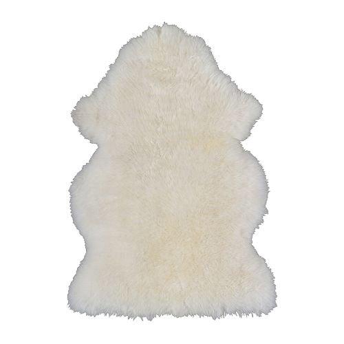 LUDDE Fårskinn, vit