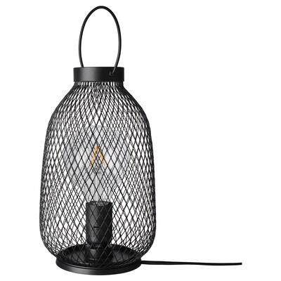 LUFTMASSA Bordslampa, svart metall, 35 cm